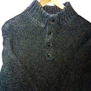 L.L. Bean Cotton 4 Button Sweater Sz Large
